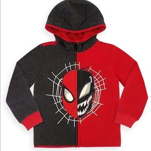 Disney Marvel Spiderman Venom hoodie Boys Sz 3
